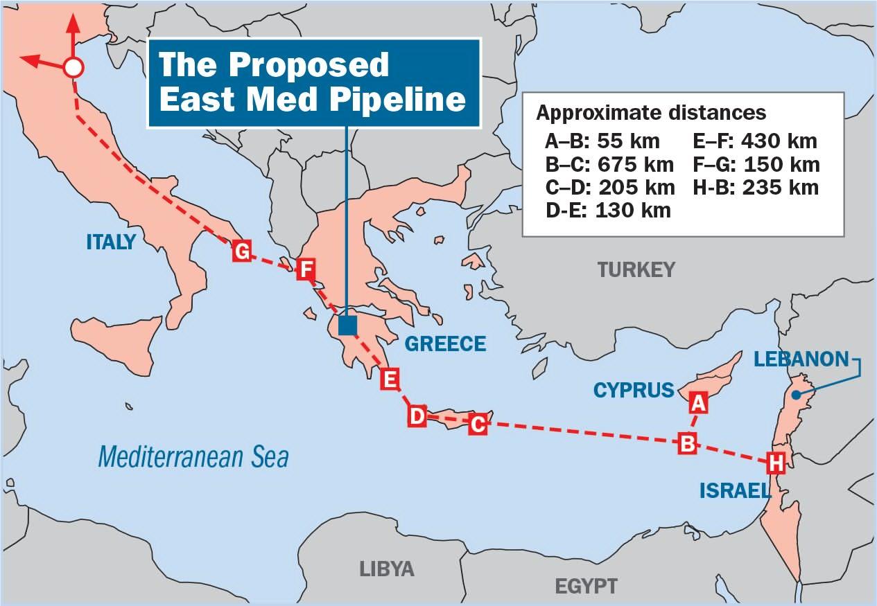 مشروع خط اتابيب اسرائيل أوروبا